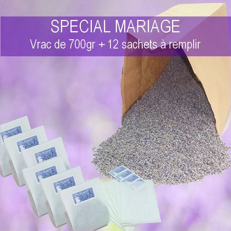 sac de 700 grs de lavande à lancer sur les mariés
