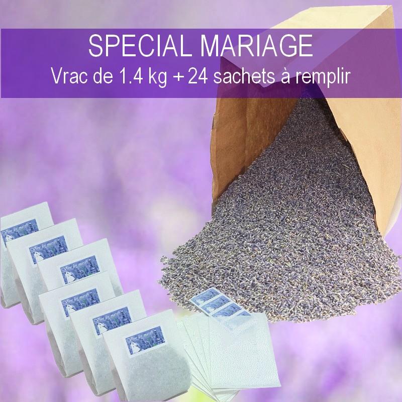 sac de 1.4 kg de lavande pour mariage