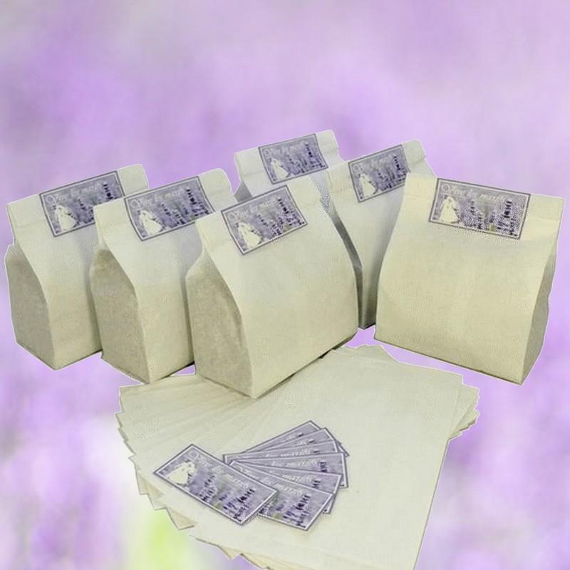 sachet à remplir de fleurs de lavande